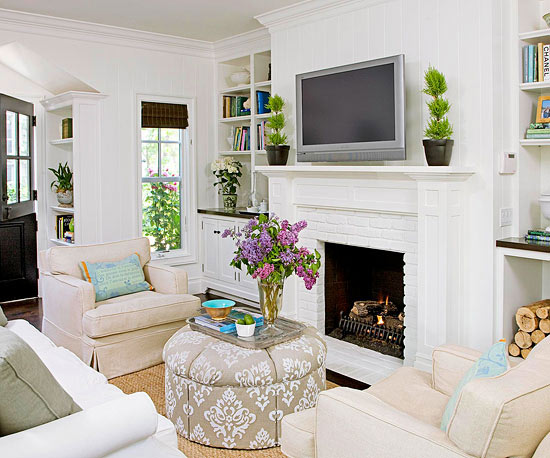 Furniture Ideas for Small Living Rooms | Homesthetics ... on Small Space Small Living Room With Fireplace  id=48188