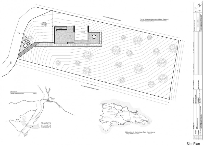 Rd house in dominican republic featuring a sustainable green roof blueprint floor plan section plane trough rd house in dominican republic featuring a sustainable green roof malvernweather Choice Image
