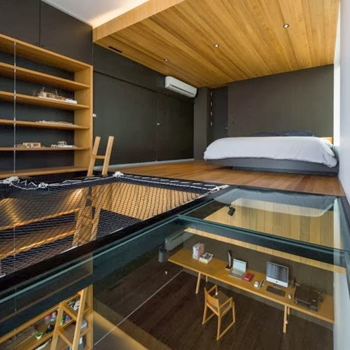 bedroom design featuring Glass-Floor-Ideas-For-High-End-Ultra-Modern-Homes