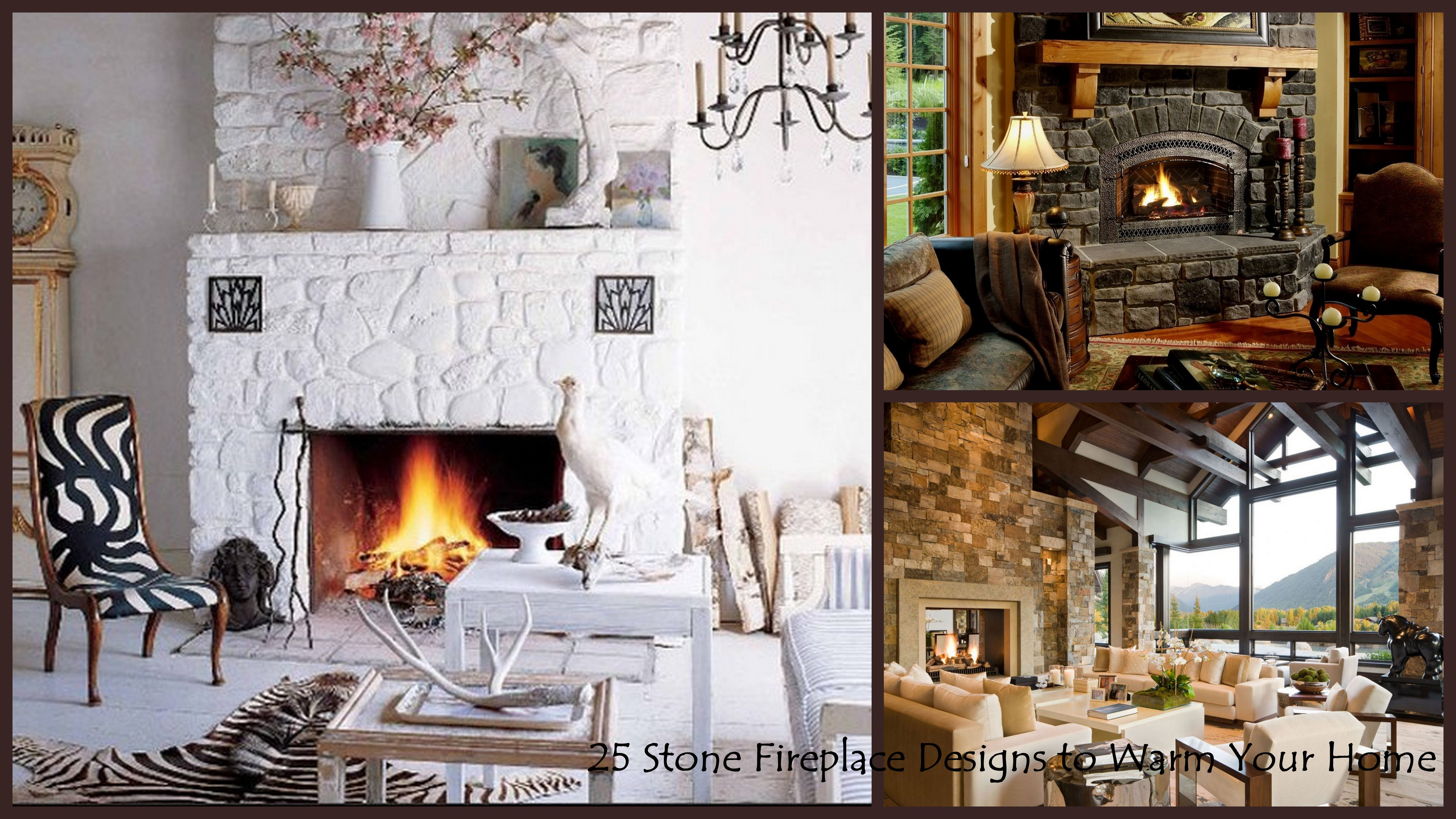 25 interior stone fireplace designs for Design your home