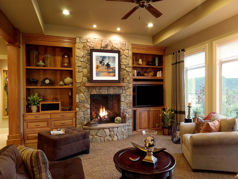 25 Stone Fireplace Designs to Warm your Home