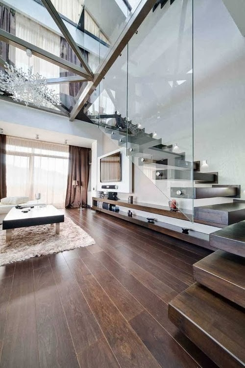 floating Different-Wooden-Types-of-Stairs-for-Modern-Homes