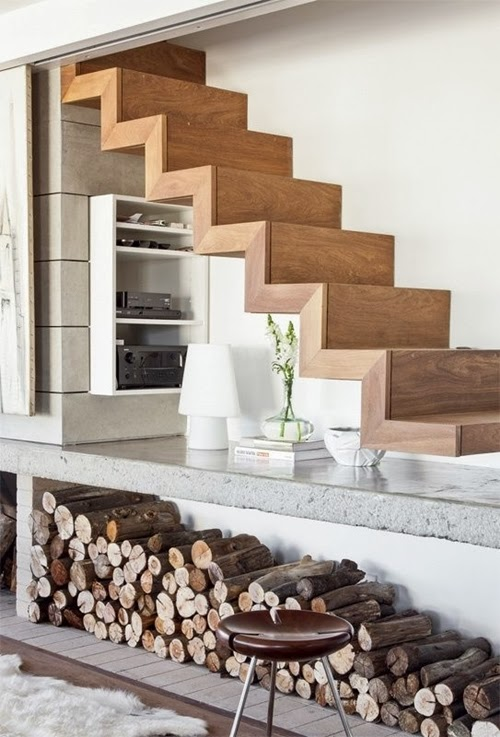 perfect monolithic Different-Wooden-Types-of-Stairs-for-Modern-Homes