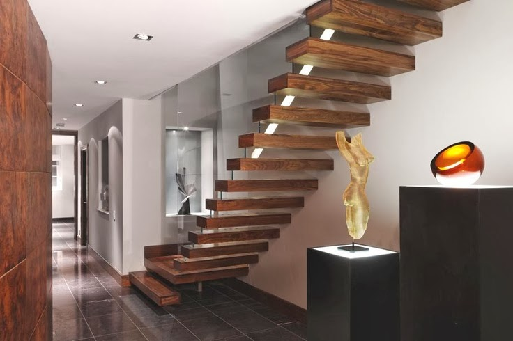 superb fireplace Different-Wooden-Types-of-Stairs-for-Modern-Homes