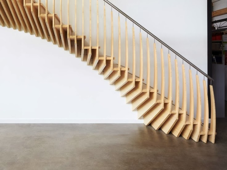 Merveilleux ... Sculptural Different Wooden Types Of Stairs For Modern Homes ...