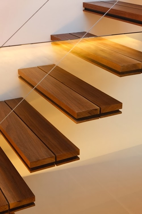 floating wooden Different-Wooden-Types-of-Stairs-for-Modern-Homes