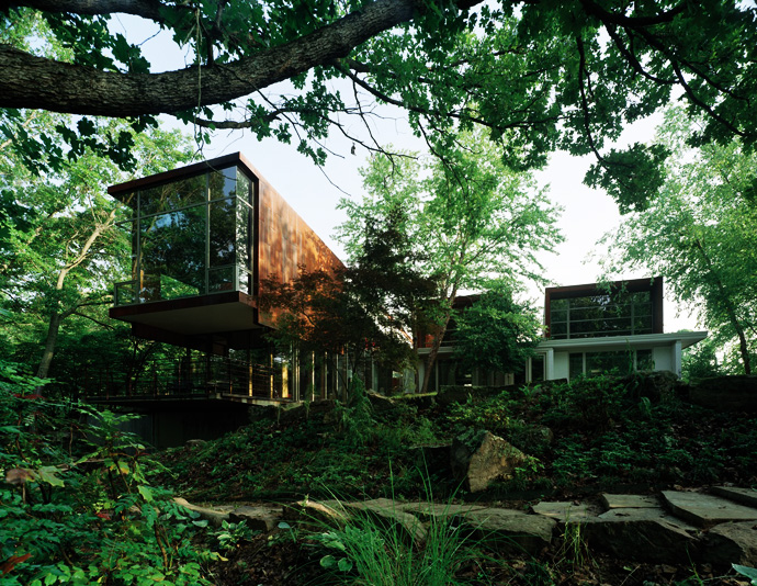 perfect Arkansas-House-Modern-Mansion-Embedded-in-Vegetation-by-Marlon-Blackwell greenery