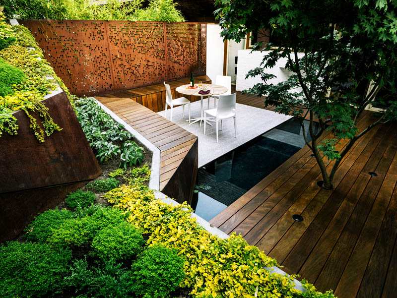 Backyard landscaping ideas hilgard garden by mary barensfeld architecture - Critical elements for a backyard landscaping ...