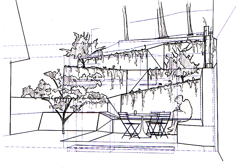 concept sketch Backyard-Landscaping-Ideas-Hilgard-Garden-by-Mary-Barensfeld-Architecture