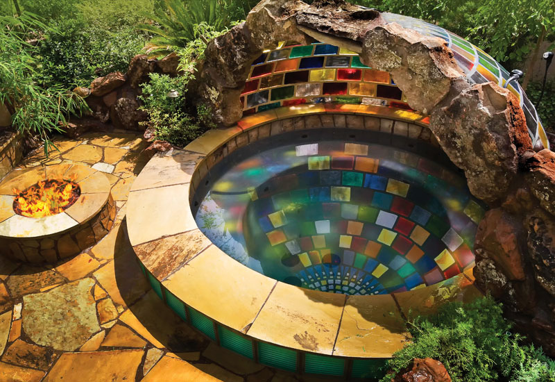 Colored Sphere Spaed Backyard Landscaping Paradise 30 Spectacular Natural  Pools