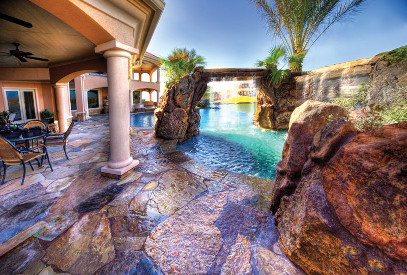 waterfall and swimming pool Backyard-Landscaping-Paradise-30-Spectacular-Natural-Pools-