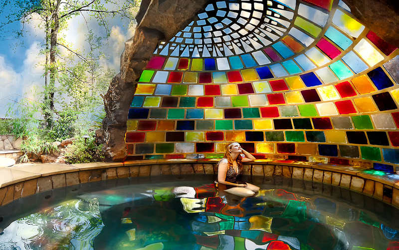colorful sphere shaped pool Backyard-Landscaping-Paradise-30-Spectacular-Natural-Pools-