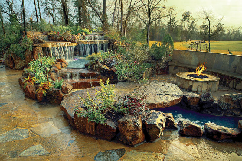 natural rock into the Backyard-Landscaping-Paradise-30-Spectacular-Natural-Pools-