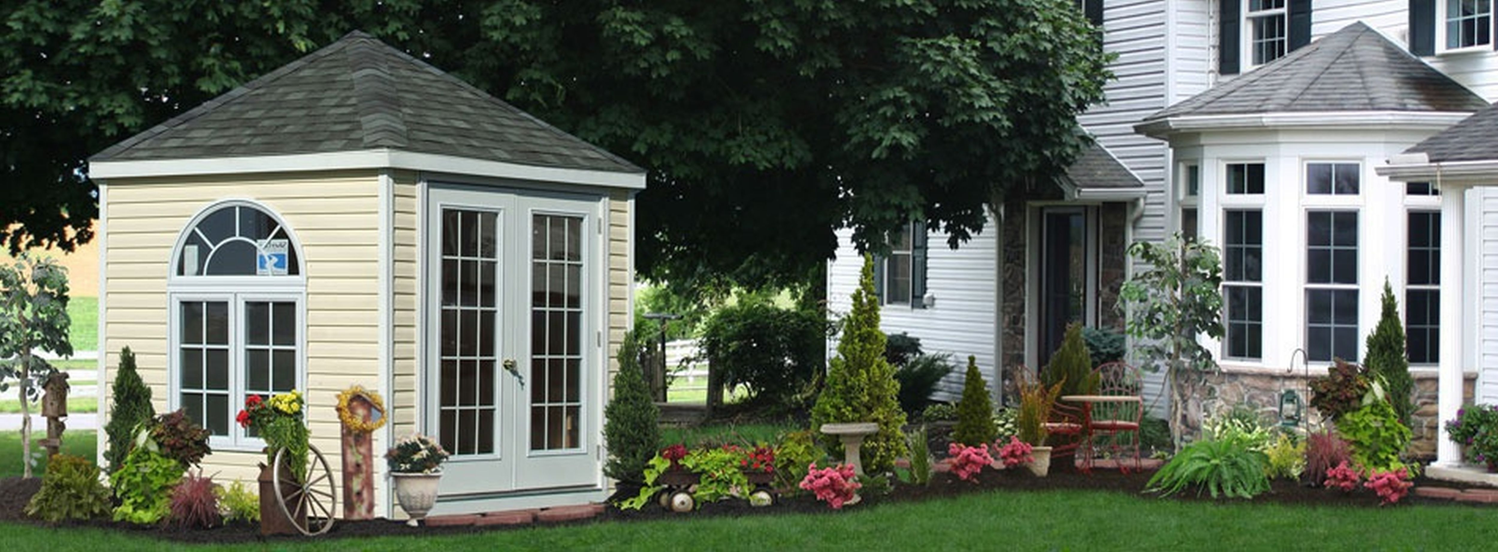 Backyard Landscaping Design Ideas-Charming Cottages and Sheds on parking shed ideas, small bar shed ideas, small backyard storage sheds, small garden shed plans, small cabin shed ideas, small modern shed ideas, large backyard ideas, small backyard shed art, carport shed ideas, garage shed ideas, cheap backyard shed ideas, deck shed ideas, outdoor shed ideas, small wood shed ideas, cool backyard shed ideas, small storage building ideas, small office shed ideas, small potting shed ideas, cute backyard shed ideas, utility shed ideas,