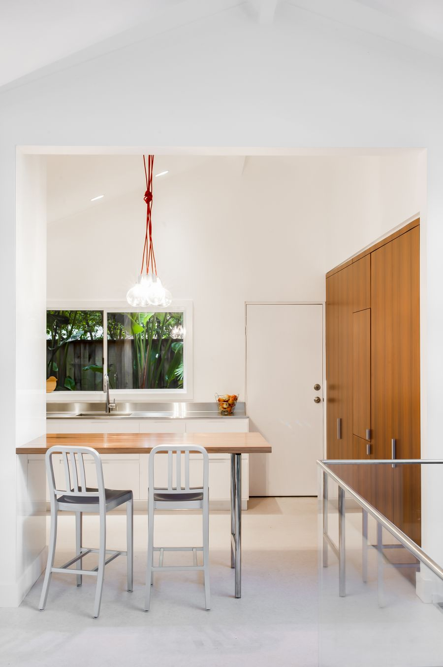 Amazing Clean Contemporary Design Incorporating Laundry Room, Kitchen and Small Office
