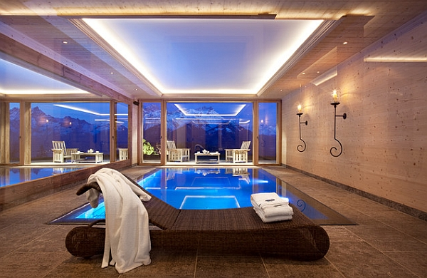 Luxurious Swimming Pool Lighten Magnificently