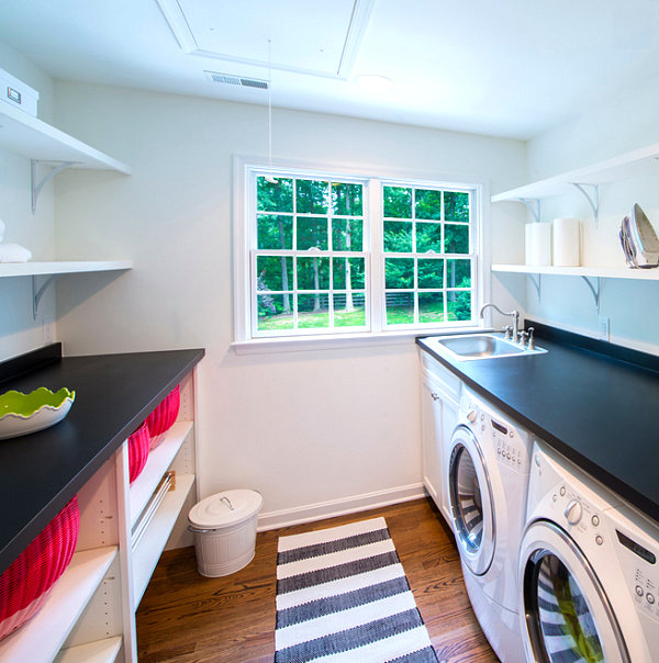 Striking&Useful Laundry Room Shelving Ideas
