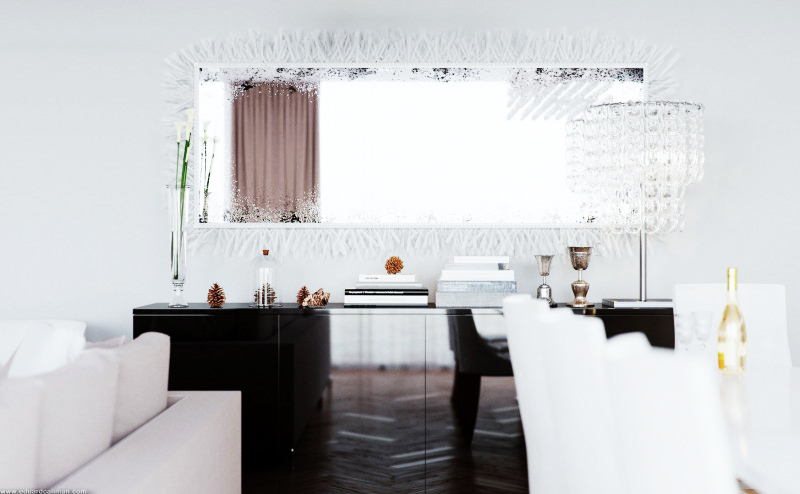 black and white interior design  World renowned designer Leeds-based Eduard Caliman created the following visualization for extraordinary luxurious living room designs.