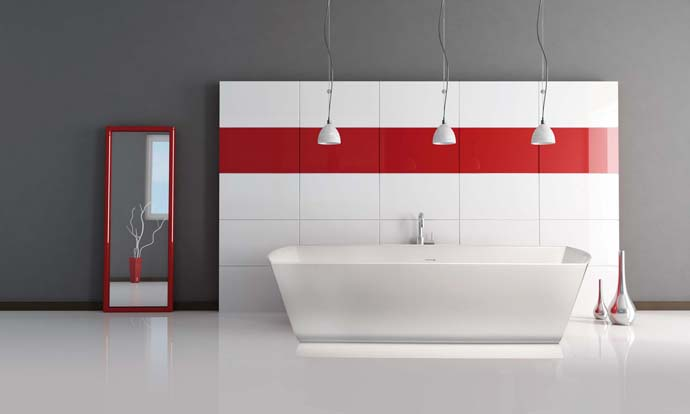 Superbe White Modern Colorful Cool Bathrooms Series The Very Best Of