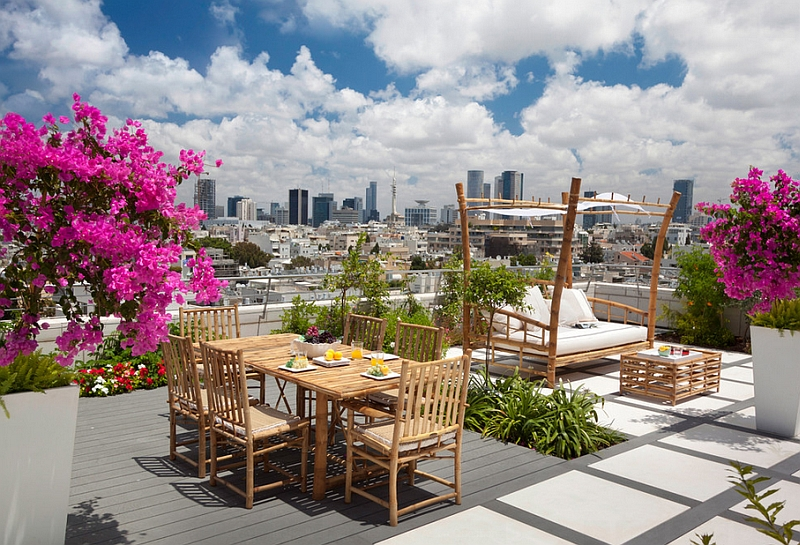 Fabulous Rooftop Deck With A Teakwood