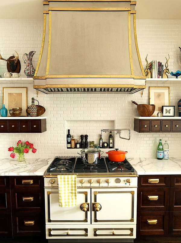 Intimate And Fabulous Use Of Apothecary Style Cabinets In The Electric  Kitchen