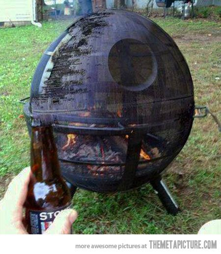 Death Star Fire Pit Design Idea