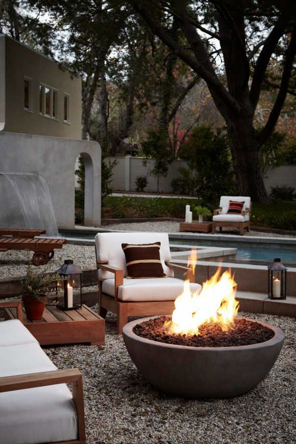 simple concrete fire bow - Outdoor Fire Pit Design Ideas