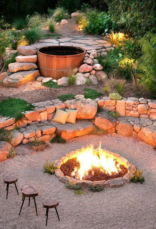 Backyard Landscaping With Fire Pit backyard landscaping design ideas-fresh modern and rustic fire pit