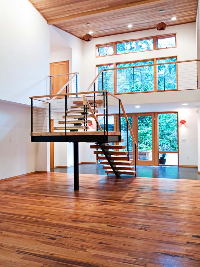 interior staircase Green Modern Classic House by PLACE Hidden in the Forest