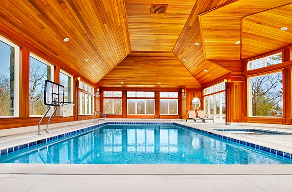 Indoor Pool Offering Warmth and Coziness