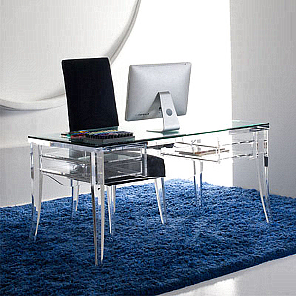 lawrence desk by h studio - Modern Home Office Glass Desk
