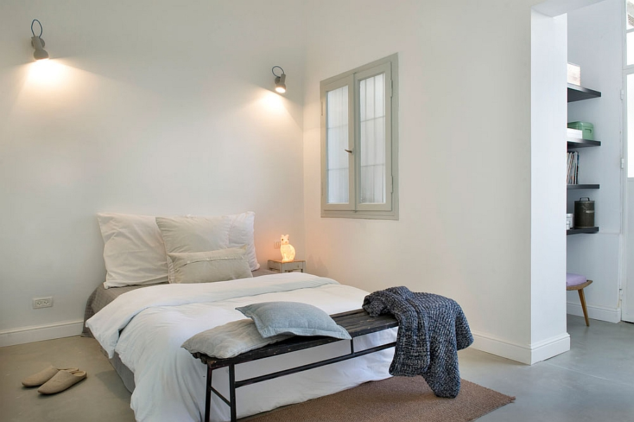 small bedroom interior design in white stark