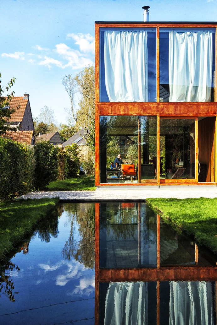 swimming pool Open Plan Design Enhanced by Backyard Landscaping-House GePo by OYO