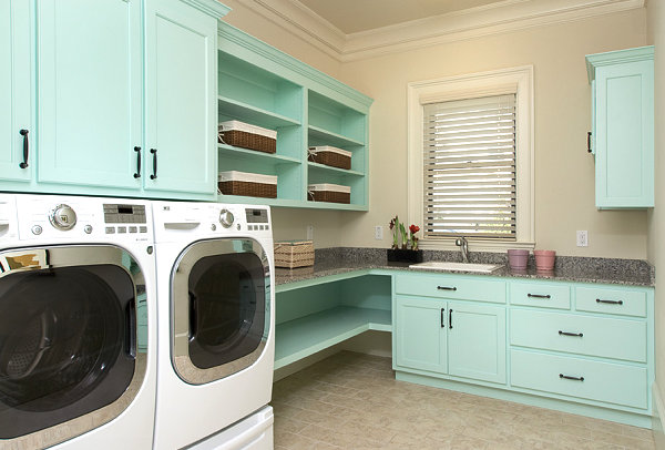 striking&useful laundry room shelving ideas - homesthetics