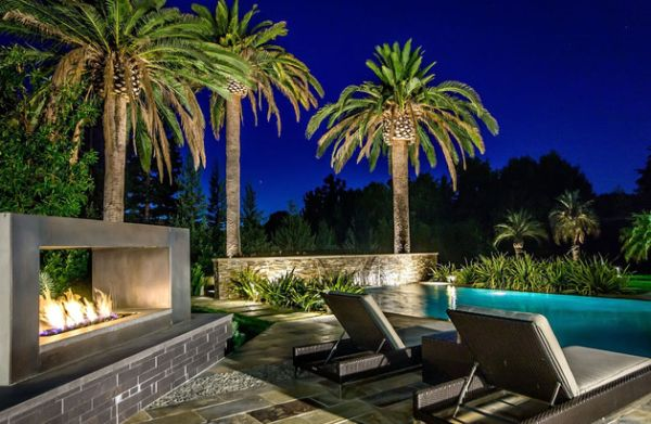 Backyard Landscaping Design Ideas-Amazing near Swimming Pool Fireplaces