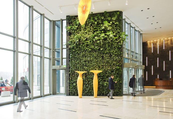 simple lobby PlantWalls-–-Greenery-Without-Losing-Floor-Space-Materiallized-by-Green-Fortune