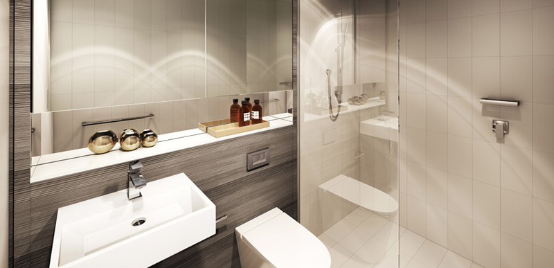 modern minimalist cool bathroom design
