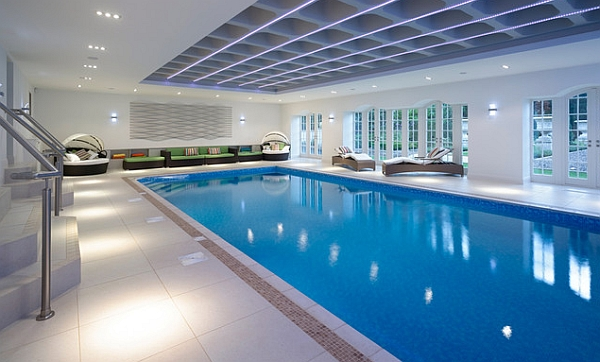 Attirant Neat And Sleek Elegant Modern Indoor Pool Design
