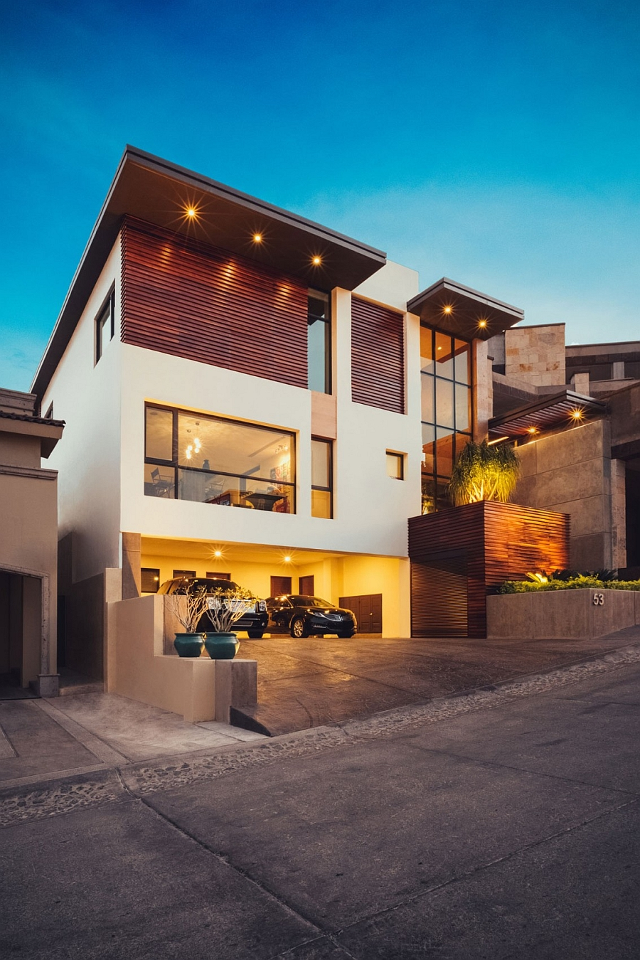 Street View of the Lavish Private Mexican Home