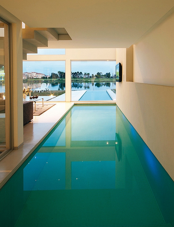 Minimalist Interior Swimming Pool Design Communicating With The Exterior  Infinity Pool