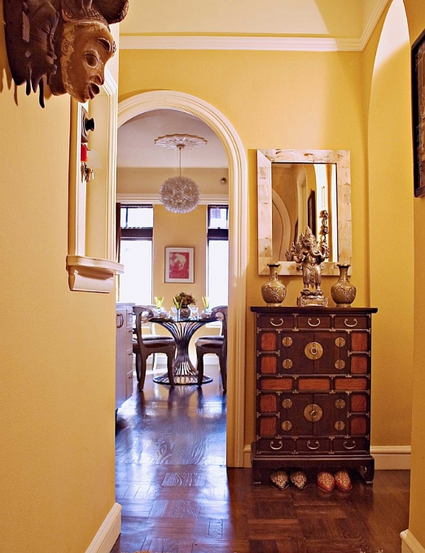 The Balanced Silhouette of a Apothecary Table May Fit Perfectly by a Narrow Entry
