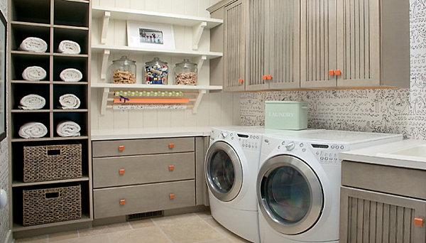 Striking Useful Laundry Room Shelving Ideas
