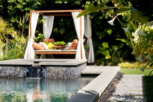 26 sleek pool designs ideas transforming gardens into for Garden oases pool entrance