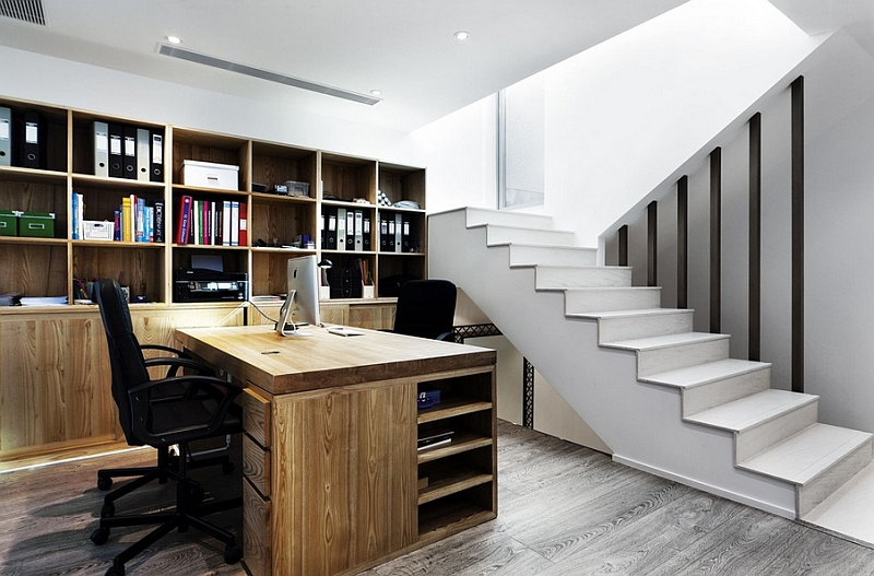 How To Transform An Old Basement Into A Chic And Functional Home Office Awesome Basement Office Design