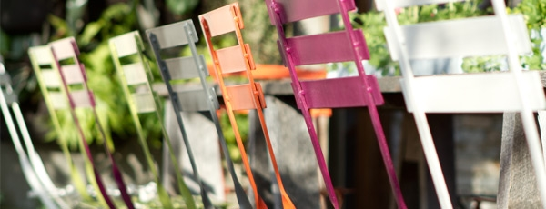 Metal Bistro Chairs in a Variety of Colors