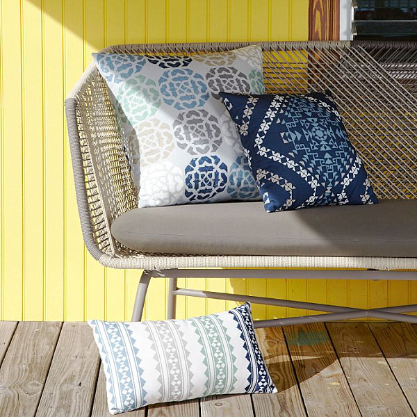 Elegant Pillows from West Elm with Tribal Style