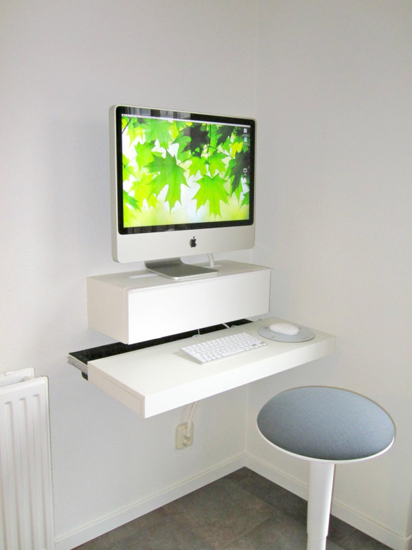 Magnificent Small Diy Wall Mounted Desk Homesthetics Homesthetics Download Free Architecture Designs Jebrpmadebymaigaardcom