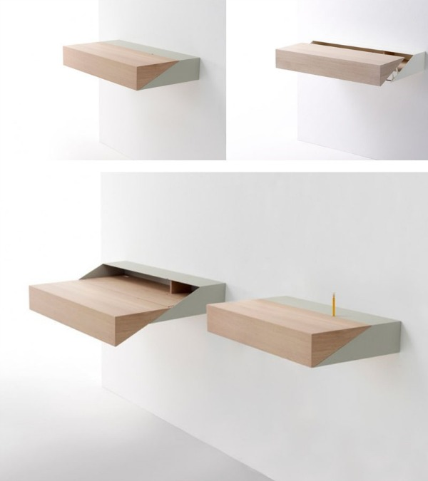 SpaceSaving Hideaway Desks for Small Apartment Designs