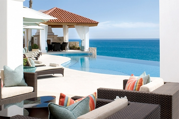 Immaculate Tropical Style Infinity Pool Design