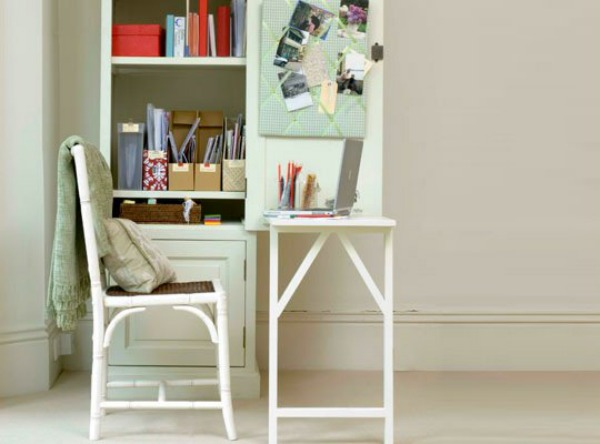 Warm White Fold Down Desk